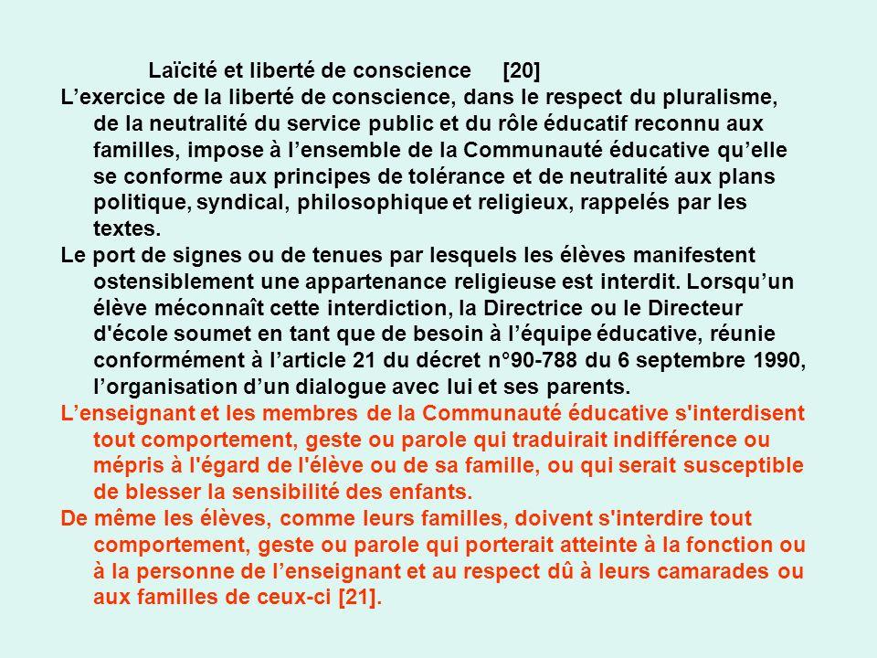 Laïcité et liberté de conscience [20]